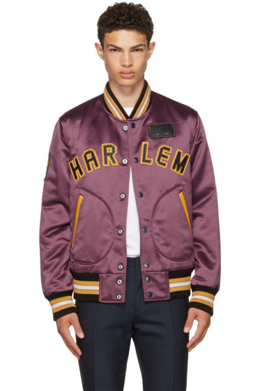 Coach 1941 - Purple Satin Varsity Jacket