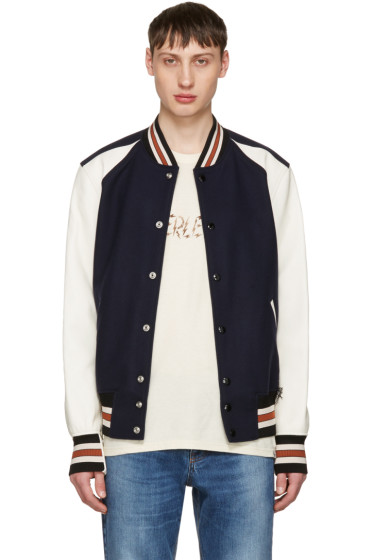 Coach 1941 - Navy & Off-White Wool Varsity Jacket