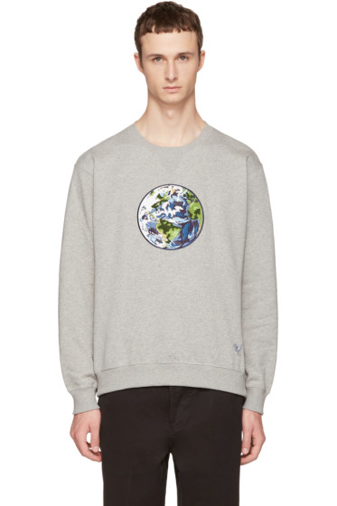 Coach 1941 - Grey Planet Earth Sweatshirt