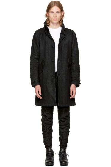 Raw Research - Black Denim Empral Coat