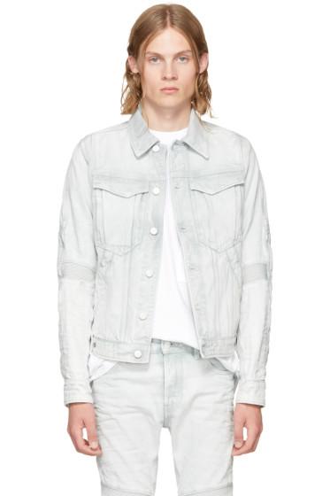 Raw Research - Blue Denim Motac 3D Slim Jacket