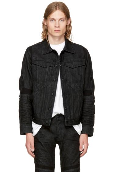 Raw Research - Black Denim Motac 3D Slim Jacket