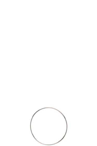 Saskia Diez - Silver Bold Wire Hoop Earring