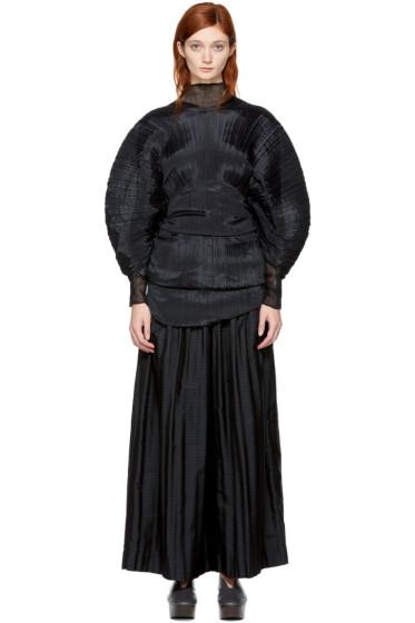 Pleats Please Issey Miyake - Black Multi-Wear Scarf