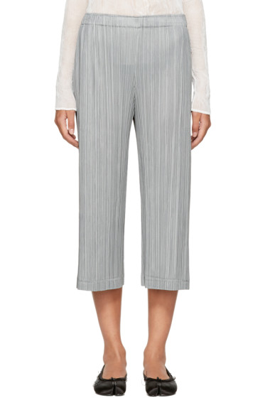 Pleats Please Issey Miyake - Grey Pleated Trousers