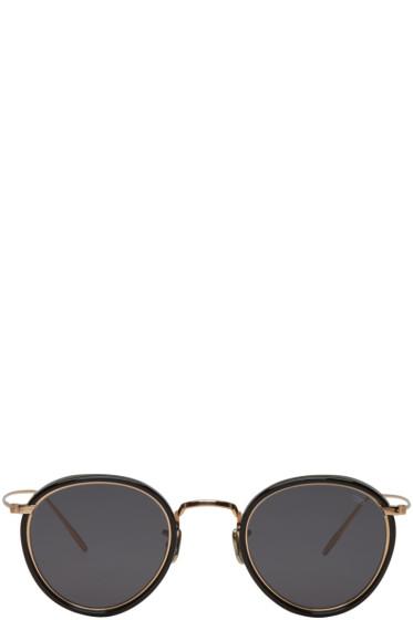 Eyevan 7285 - Gold & Black 'Model 717 E' Sunglasses