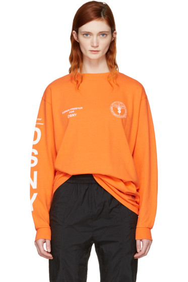 Heron Preston - Orange DSNY Edition Long Sleeve 'Uniform' T-Shirt