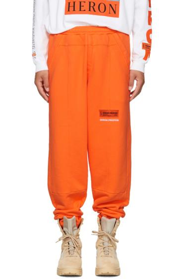 Heron Preston - Orange HP Sweatpants