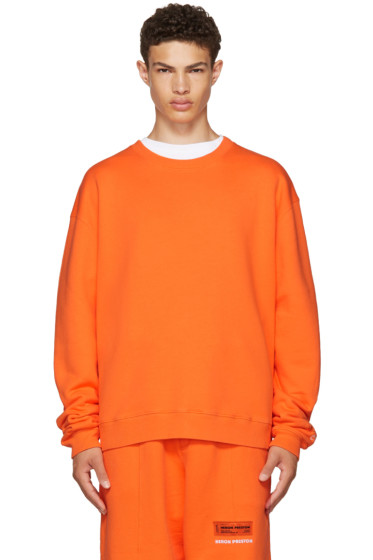 Heron Preston - Orange 'CTNMB' Sweatshirt
