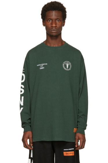 Heron Preston - Green DSNY Edition Long Sleeve 'Uniform' T-Shirt