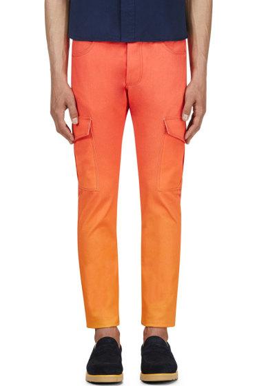 Katie Eary - Orange Sunset Twill Cargo Trousers