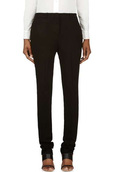 Nicolas Andreas Taralis - Black Linen Classic Flat-Front Trousers