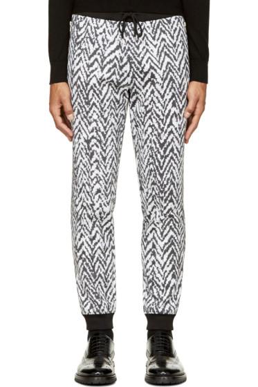 Krisvanassche - Black & White Chevron Lounge Pants