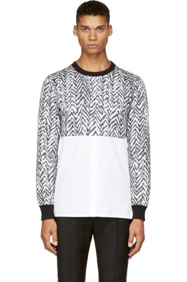 Krisvanassche - SSENSE Exclusive Black & White Chevron Hybrid Shirt