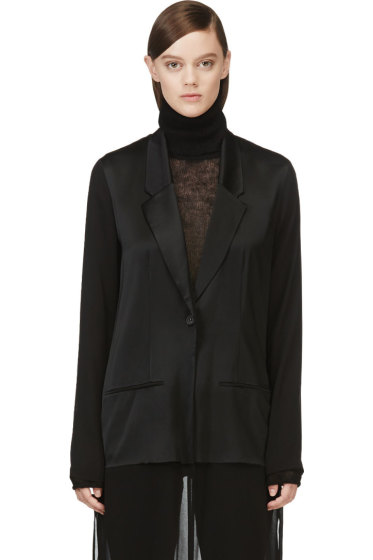 Avelon - Black Flapper Fancy Suiting Coat