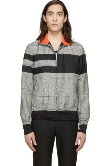 Krisvanassche - Black Check & Stripe Wool Jacket