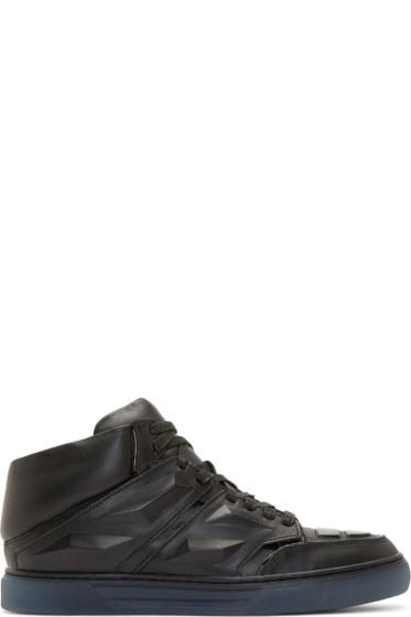 Alejandro Ingelmo - Black Leather Exotron Sneakers