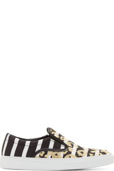 Mother of Pearl - Black & White Leopard Achilles Sneakers