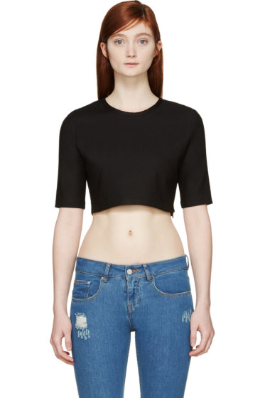 Filles a Papa - Black Cropped Top