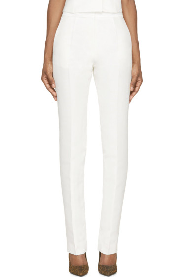 Pallas - Ivory White Lurex Poseidon Trousers