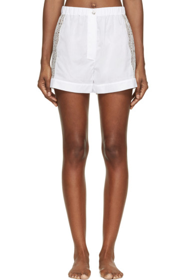 Raphaëlla Riboud - White Cotton & Lace Fred Shorts