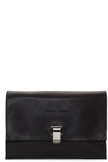 Proenza Schouler - Black Leather Small Lunchbag