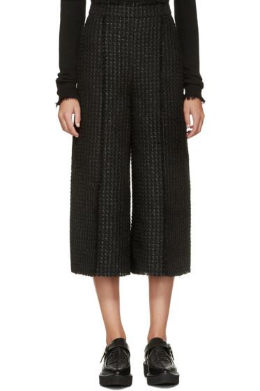 Proenza Schouler - Black Tweed Cropped Trousers