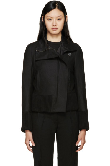 Ann Demeulemeester - Black Wool Jacket