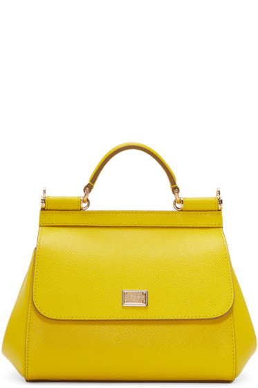 Dolce   Gabbana Yellow Mini Miss Sicily Bag from SSENSE - Styhunt e80e070eb193f