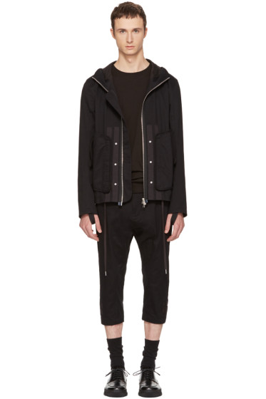 Helmut Lang - Black Hooded Utility Jacket