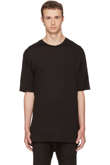 Helmut Lang - Black Slash Hem T-Shirt