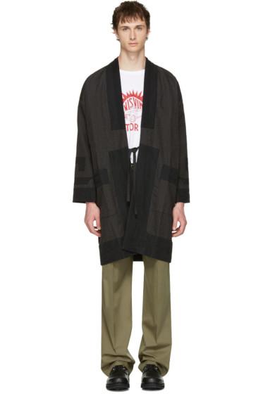 Visvim - Black Pinstripe Ruunpe Coat