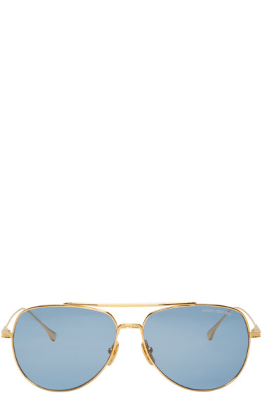 Dita - Gold 18k Flight 004 Aviator Sunglasses