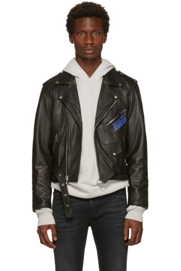 Enfants Riches Déprimés - Black Porsche Crash Leather Jacket