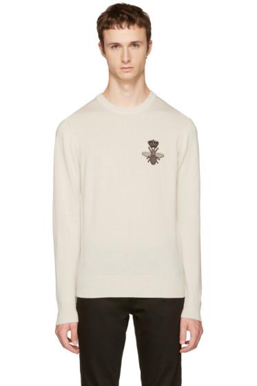 Dolce & Gabbana - Off-White Bee Sweater