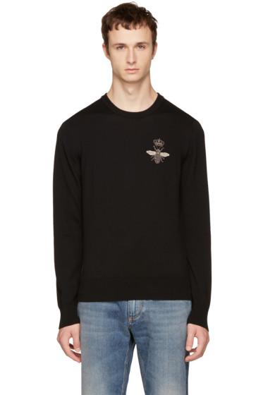 Dolce & Gabbana - Black Bee Sweater