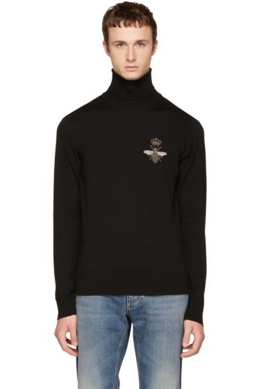 Dolce & Gabbana - Black Bee Turtleneck