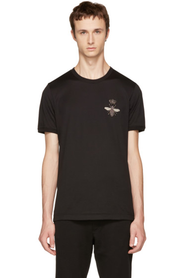 Dolce & Gabbana - Black Bee T-Shirt