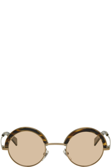 Oliver Peoples pour Alain Mikli - Gold & Brown 4003N Sunglasses