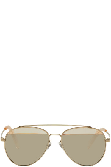 Oliver Peoples pour Alain Mikli - Gold Paon Aviator Sunglasses