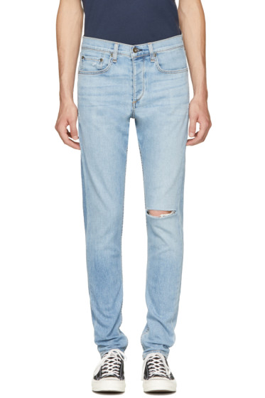 Rag & Bone - Blue Standard Issue Fit 1 Extra Slim Jeans