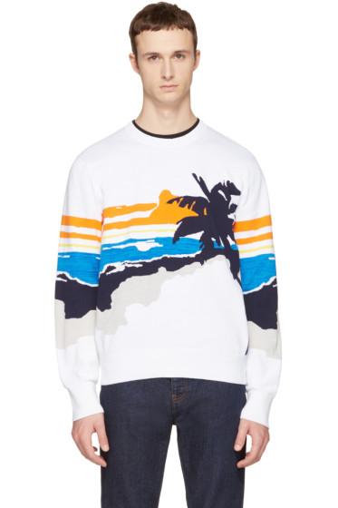 Rag & Bone - White Brody Graphic Sweater