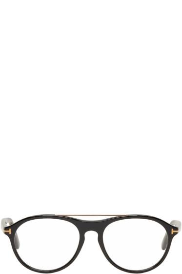 Tom Ford - Black Pilot Shape Glasses