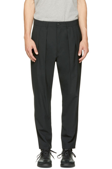 Diesel Black Gold - Black Double Pleated Trousers