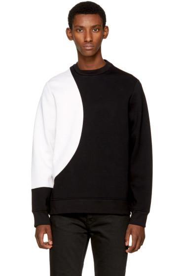 Diesel Black Gold - Black & White Contrast Sweatshirt