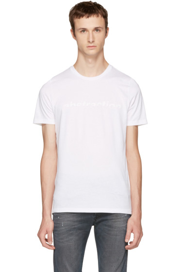 Diesel Black Gold - White 'Abstraction' T-Shirt