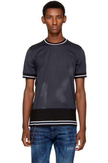 Diesel Black Gold - Blue Contrast Stripe T-Shirt