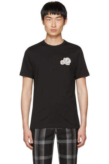 Moncler - Black Double Logo Patch T-Shirt