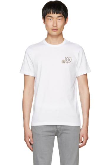 Moncler - White Double Logo Patch T-Shirt