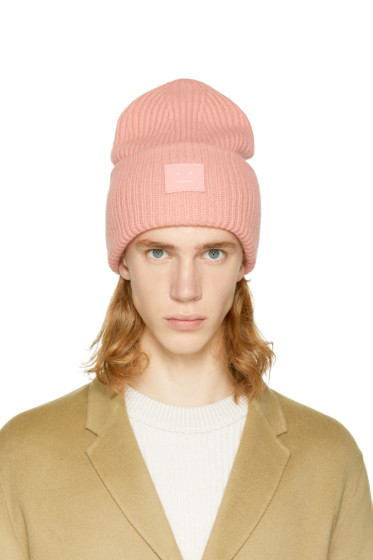 Acne Studios - Pink Pansy L Face Beanie